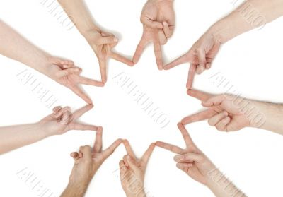 hands forming a star