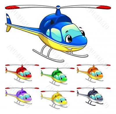 Funny helicopter.