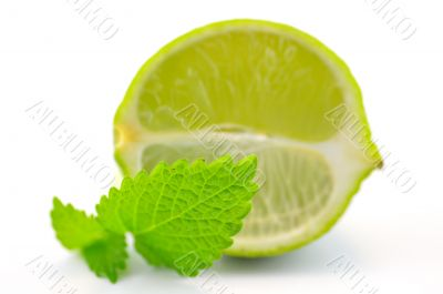 Fresh lime with lemon mint