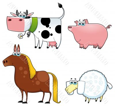 Funny farm animals.