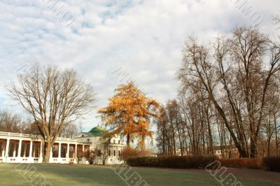 Autumn in the old-time estate near Moscow