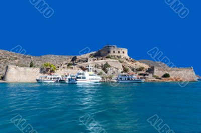 The island-fortress of Spinalonga