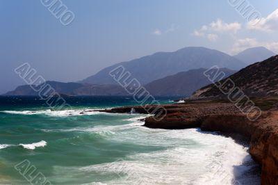 The sea coast of the island