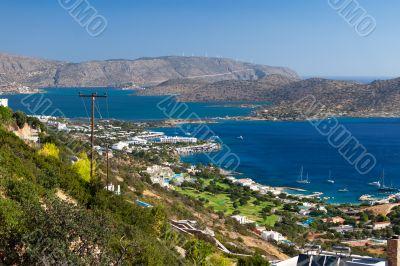 Bay of Elounda in Crete
