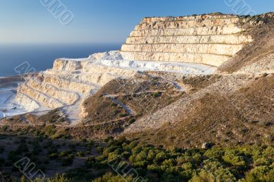 Chalk quarry on the island of Crete