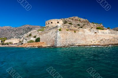 The island-fortress of Spinalonga in Crete