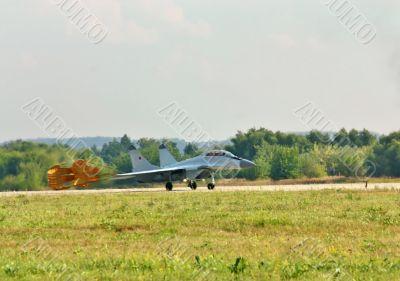 Landing fighter