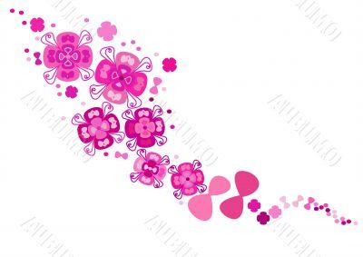 Pink pattern, crimson floral pattern