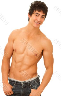 Young male underwear model.