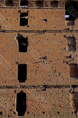 Ruined mill in Volgograd