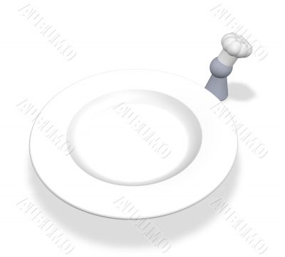 cook token and plate