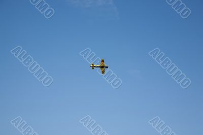 flying plane in the sky