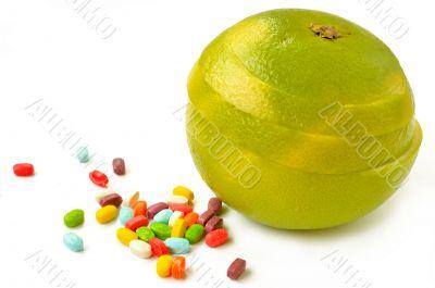 Citrus sveetie slices