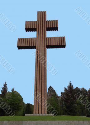 Lorraine Cross memorial Charles de Gaulle