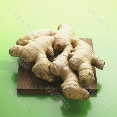 Ginger Root on Cutting Board