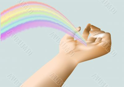 rainbow in the hand
