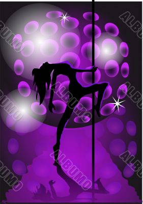 girl dancing with a pole