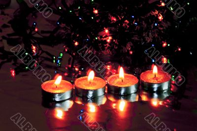 new year's decorations, Christmas  candles