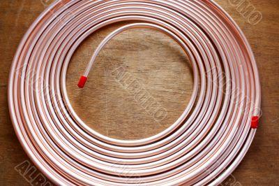 Copper pipe.