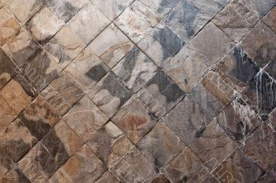 Stone tiles.