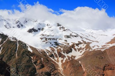 Caucasus mountains Dombai