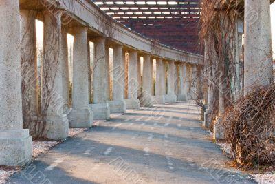 route between columns