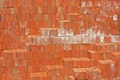 Red clay bricks.