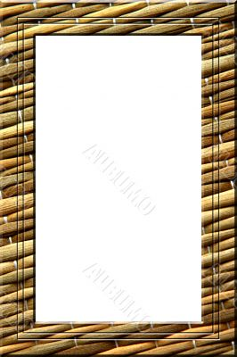 Straw mat portrait frame