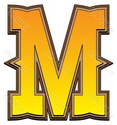 Western alphabet letter - M