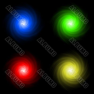 Abstract colored background spirals
