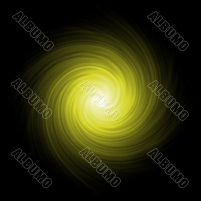 Yellow abstract background spiral