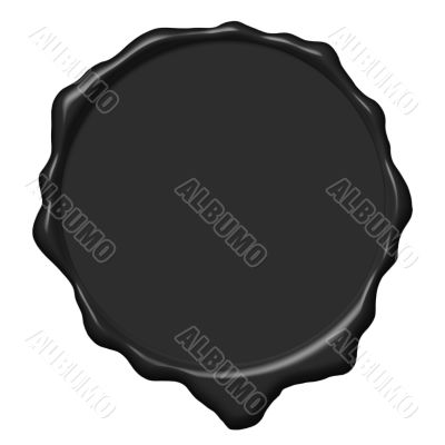 Black wax empty seal
