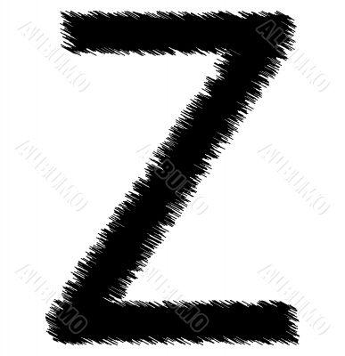 Scribble alphabet letter - Z