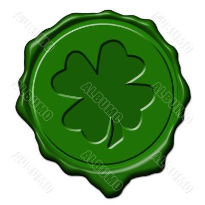Shamrock green wax seal