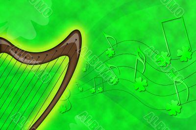 Saint Patrick`s harp