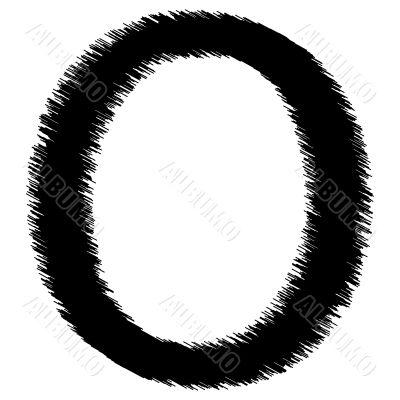 Scribble alphabet letter - O