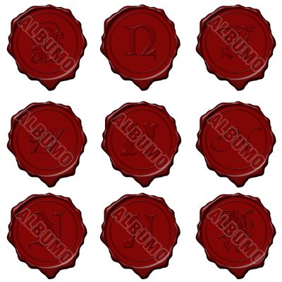 Wax seal alphabet letters - N