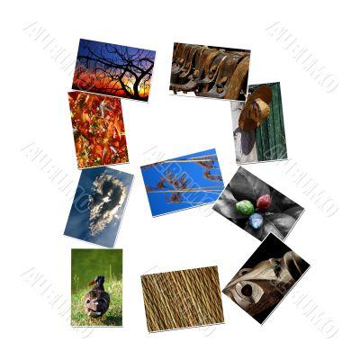 Photo collage alphabet - B