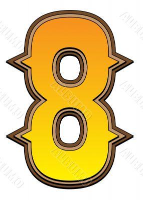 Western alphabet number  - 8
