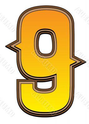 Western alphabet number  - 9