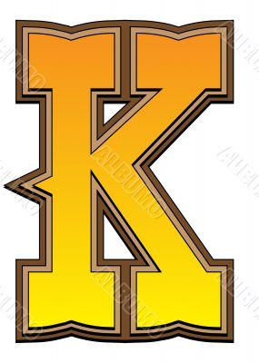 Western alphabet letter - K