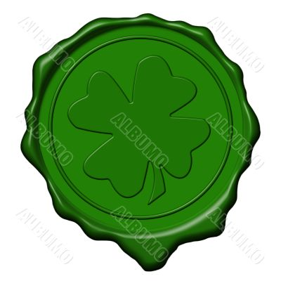Shamrock green wax seal