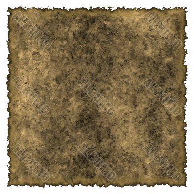 Old burned edges parchment