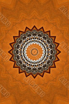 Wooden abstract decoration