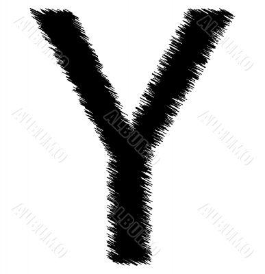 Scribble alphabet letter - Y