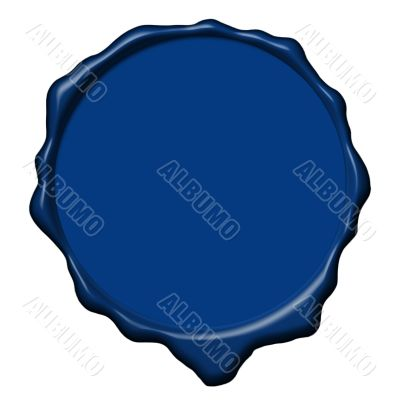 Blue wax empty seal
