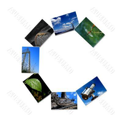 Photo collage alphabet - C