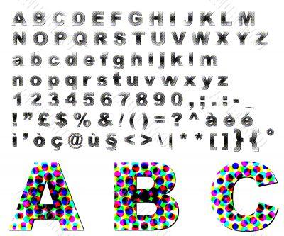 Dots fantasy alphabet