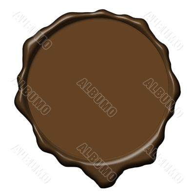 Brown wax empty seal