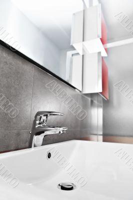 Sink closeup furniture
